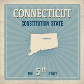 Connecticut  retro poster — Stock Vector