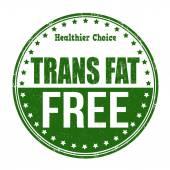 Trans fat free stamp — Vecteur