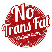 No trans fat stamp — Stock Vector
