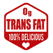 Zerop grams trans fat stamp — Stockvector