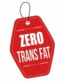 Zero trans fat label or price tag — Vector de stock
