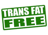 Trans fat free stamp — Stockvector