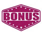 Bonus stamp — Stock Vector