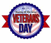 Veterans day label or seal — Stock Vector