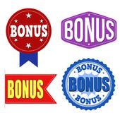 Bonus label, sticker or stamps — Stock Vector
