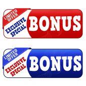 Bonus banners — Stock Vector