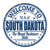 Welcome to South Dakota stamp — Stock Vector
