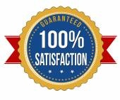 Hundred percent satisfaction guaranteed badge — Vector de stock