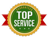 Top service guaranteed badge — Stock Vector