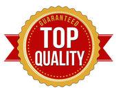 Top quality guaranteed badge — Stock Vector