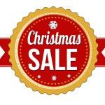 Christmas sale badge on white background, vector illustration — Stock Vector #57329579