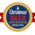 Christmas sale badge on white background, vector illustration — Stock Vector #57329593