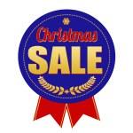 Christmas sale badge on white background, vector illustration — Stock Vector #57329699