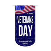 Veterans day banner design  — Stock Vector