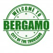 Welcome to Bergamo stamp — Stock Vector #57404823