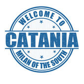 Welcome to Catania stamp — Stock Vector