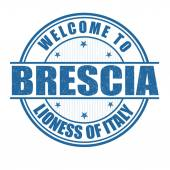 Welcome to Brescia stamp — Stock Vector