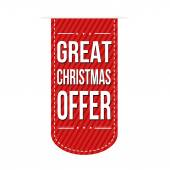 Great Christmas offer banner design — Stockvector