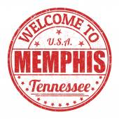 Welcome to Memphis stamp — Stock Vector