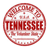 Welcome to Tennessee stamp — Stock Vector