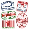 Christmas stamps set — Stock Vector #57864121