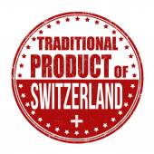 Traditional product of Switzerland stamp — Vetorial Stock
