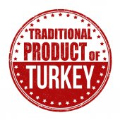 Traditional product of Turkey stamp — Vetorial Stock