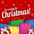 Be ready for Christmas background design — Stok Vektör #57983935