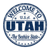Welcome to Utah stamp — Stock Vector
