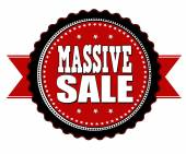 Massive sale badge — Stock Vector