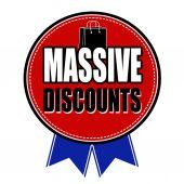 Massive discounts sale badge — Stock Vector