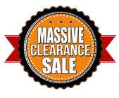 Massive clearance sale badge — Stock Vector