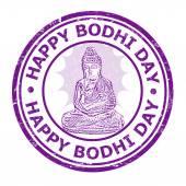 Happy Bhodi day stamp — Stock Vector