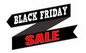 Black friday sale banner design — Stock Vector