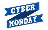 Cyber monday banner design — Stock Vector