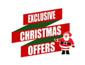 Exclusive Christmas offers banner design — Stock Vector