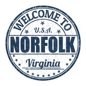 Welcome to Norfolk stamp — Stock Vector