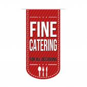 Fine catering banner design — Stock Vector