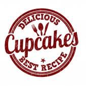 Timbro di cupcakes — Vettoriale Stock
