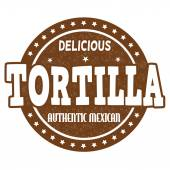 Tortilla stamp — Stock Vector