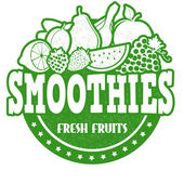 Smoothies stamp — Stock Vector
