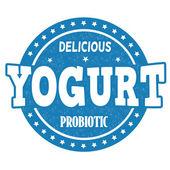 Yogurt stamp — Stock Vector