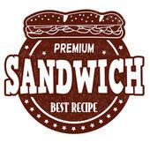 Sandwich stamp — Stockvektor