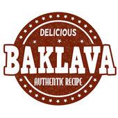 Baklava stamp — Stock Vector