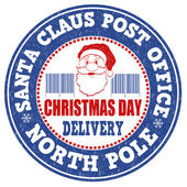 Santa Claus post office stamp — Stock Vector
