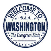 Welcome to Washington stamp — Stock Vector