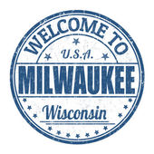 Welcome to Milwaukee stamp — Stockvektor
