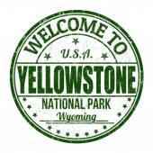Welkom bij yellowstone stempel — Stockvector