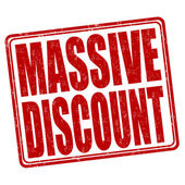 Massive discount stamp — Stock Vector