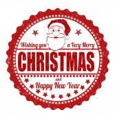 Christmas stamp — Stock Vector